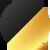 Лосины светоотражающие Totalfit Bubble Play, Чёрный, Золотой, XS