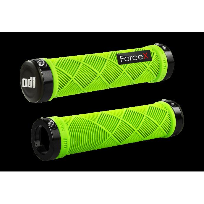 Грипсы ODI Cross Trainer MTB Lock-On Bonus Pack Lime Green w/Black Clamps (с черными замками)