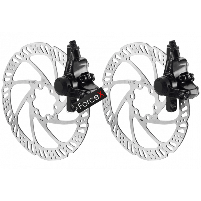 Дисковые тормоза TEKTRO NOVELA M-280 мех, ротор 160мм (комплект)