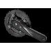 Шатуны SQ PROWHEEL ZEPHYR-501 28/40T под квадрат 175мм чёрные
