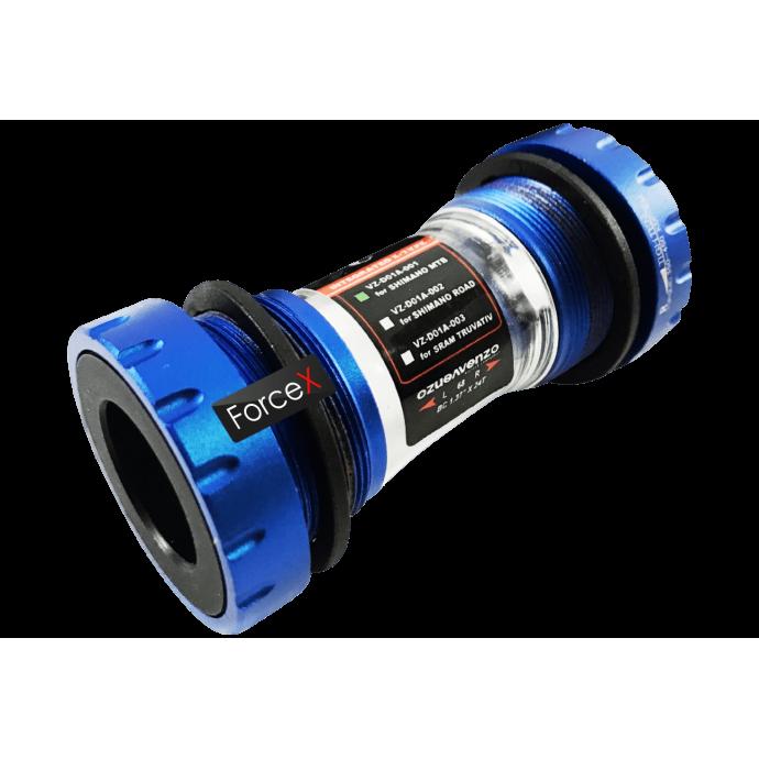 Каретка Venzo MTB Shimano Hollowtech II 68/73мм Blue