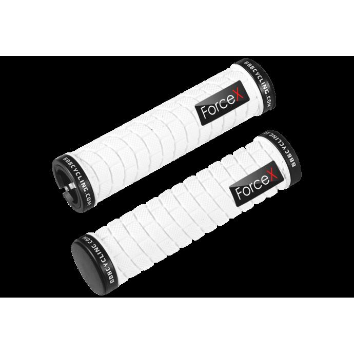 """Грипсы BBB """"DualFix"""" (BHG-31) 128 мм, белые с черными замками"""