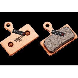 Тормозные колодки дисковые BBB BBS-56S  Sintered. Металлизированные. Shimano XTR,XT,SLX,Deore. FSA K-Force DB-XC-9000, Afterburner DB-XC-9150.
