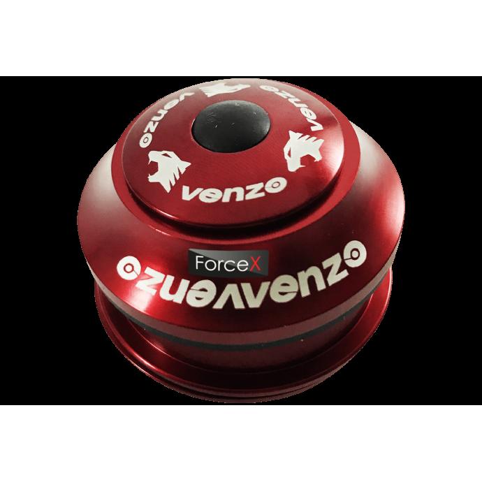 Рулевая колонка 1-1/8″ Venzo полуинтегрированная, красная