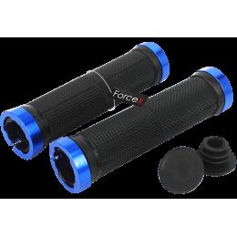 Грипсы ROCKBROS 130мм, черные с синими замками
