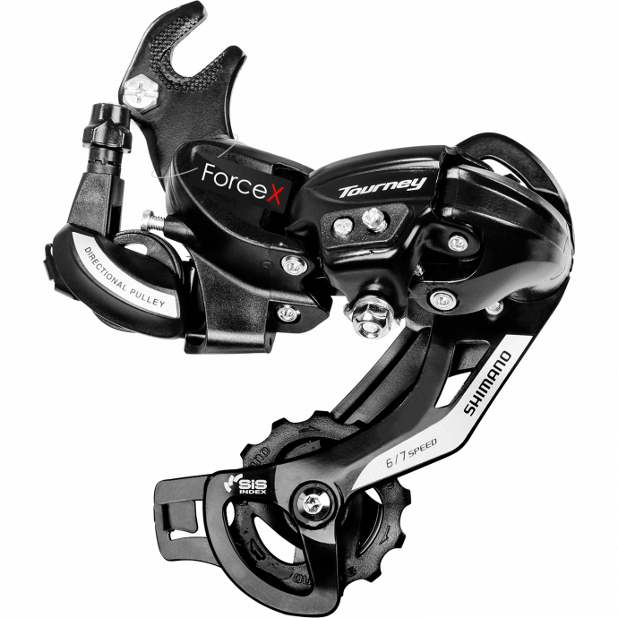 Переключатель задний Shimano Tourney RD-TY500D 6-7 скоростей, крюк