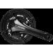 Шатуны Shimano FC-T611 DEORE, Hollowtech II, 175мм, 48/36/26T, интегрированная ось
