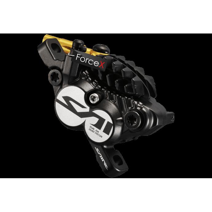 Калипер гидравлический для дискового тормоза BR-M820 SAINT, монтаж РМ160мм, колодка H03C/Fin