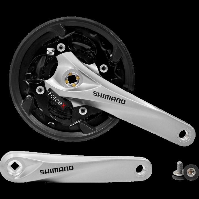 Шатуны SQ Shimano FC-M3000 L ACERA 22/30/40Т 9-ск 175 мм под квадрат серые