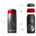 Бокс для инструментов Raceone Toolbox PR.1 (600ml) Black/Silver