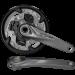 Шатуны HT2 Shimano FC-M4050 ALIVIO 22/30/40T 9-ск 165мм, интегрированная ось, серые