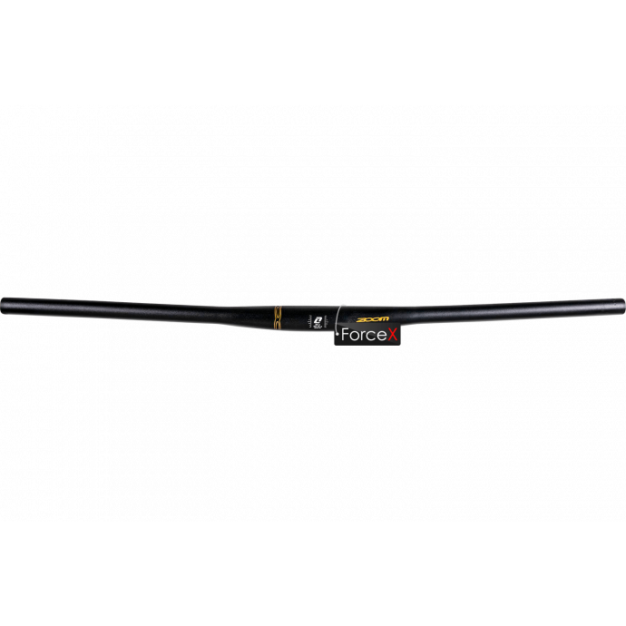 Руль ZOOM FLAT HD-1, 31.8, 780мм, алюминий, подъем: 0 мм, изгиб: 10°, чёрный