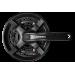 Шатуны Shimano FC-TY301 TX 48/38/28T, 8/7/6ск. 170мм, под квадрат с защитой, черные