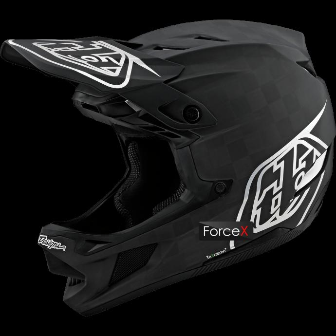 Велошлем Full Face TLD D4 Carbon [Stealth Black/Silver], M