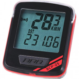 """Велокомпьютер BBB BCP-25 7F """"NanoBoard"""", проводной, чёрно-красный"""