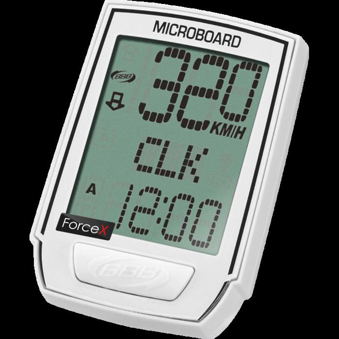 """Велокомпьютер BBB BCP-32W 13F """"MicroBoard"""" беспроводной с подсветкой, белый"""