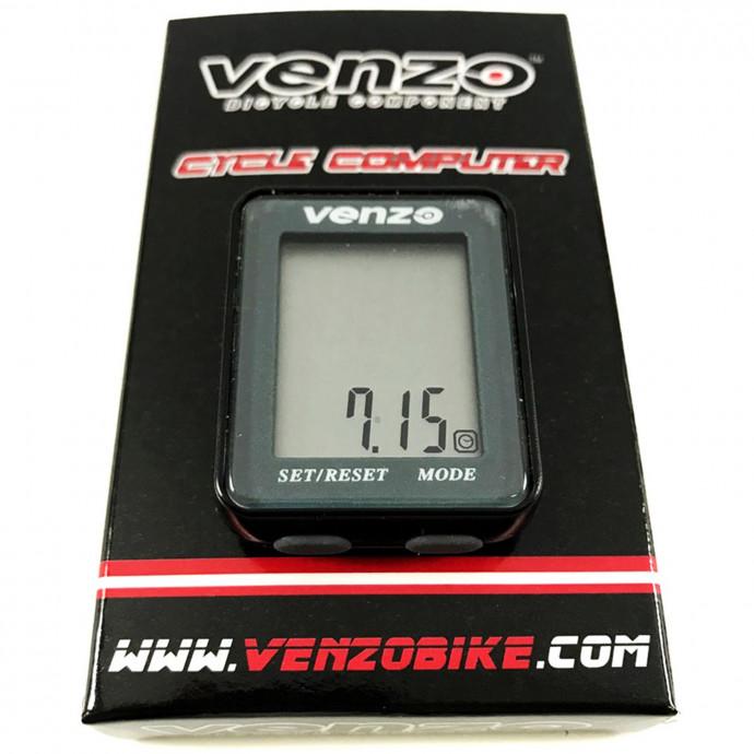 Велокомпьютер VENZO VZ-F20-001 9F проводной, чёрно-серый