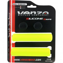 Грипсы VENZO VZ-E05-019, 128 мм, силикон, жёлтые