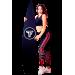 Лосины-утяжка с эластичным корсетом Totalfit Y2-P70, Чёрный, Красный, XS