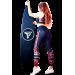Спортивный топ Totalfit T1-P70, Чёрный, Красный, L