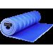 Коврик для йоги Polifoam однослойный c рифлением радуга, синий (180х60х0.7см)
