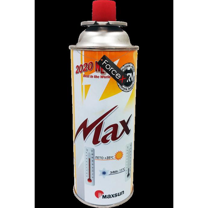 Газовый баллон Maxsun MSF-1a (220g/400ml), Orange, цанговый