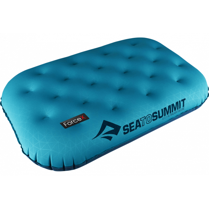 Подушка надувная Sea To Summit - Aeros Ultralight Pillow Deluxe Aqua (14x56x36 см)
