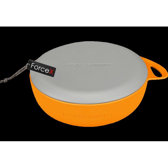 Миска с крышкой Sea To Summit - Delta Bowl Grey/Orange, 800 мл