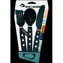 Набор столовых приборов Sea To Summit - Alpha Cutlery Set Black