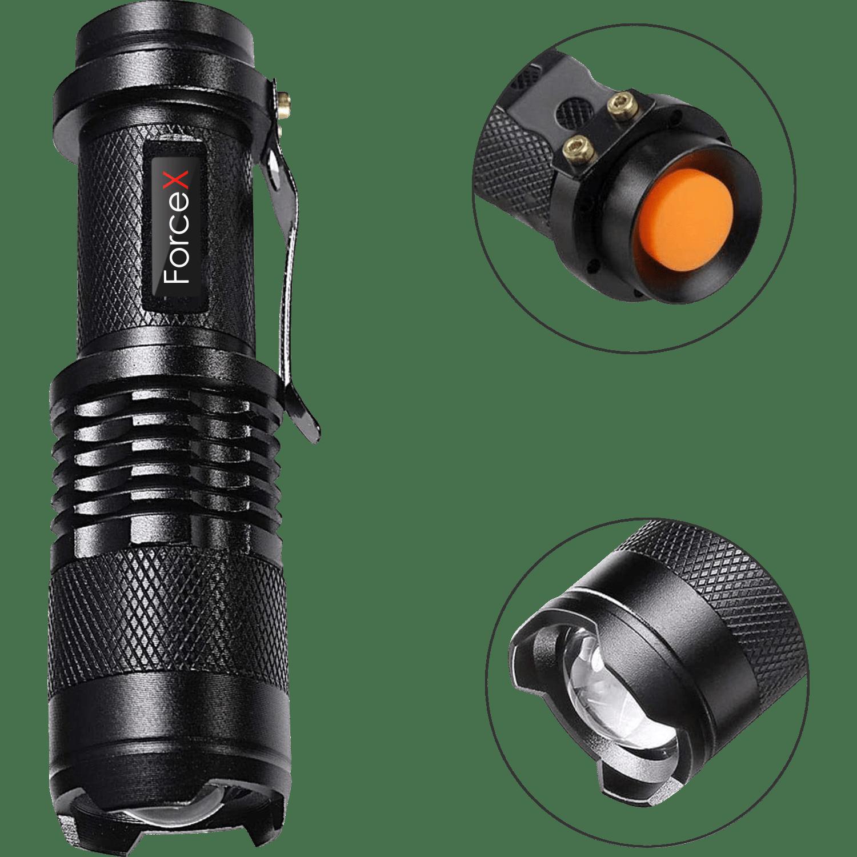 Тактический передний фонарь CREE Q5 BL0502, с креплением